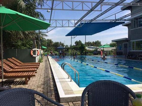 mái xếp bể bơi đẹp