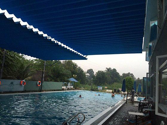 mai xep bể bơi mới