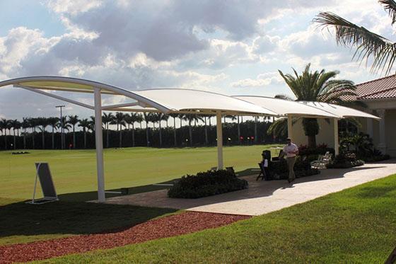 thiết kế mái xếp sân golf